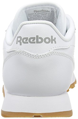 White Baskets Blanc Fille intense Leather Classic Basses Reebok gum gCqn1TwA