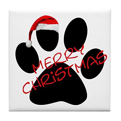 - CafePress Cute Dog Paw Print Tile Coaster, Drink Coaster, Small Trivet
