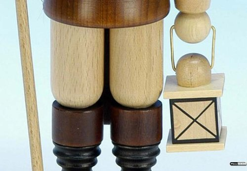 German Christmas Nutcracker Nightwatchman natural colors - 28,0 cm / 11 inch - Christian Ulbricht