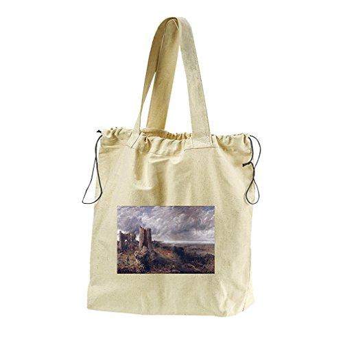 Hadleigh Castle (Constable) Canvas Drawstring Beach Tote Bag (Castle Hadleigh)