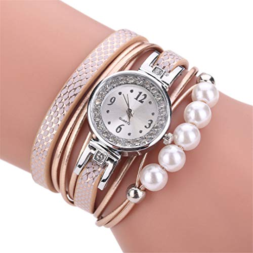 Orange Candy Color Imitation Pearl Crystal Bracelet for sale  Delivered anywhere in USA