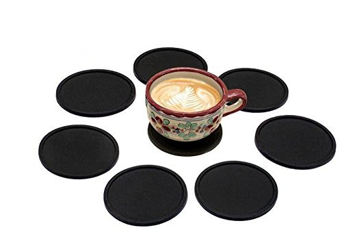 Hosaire Silicone Drink Coasters Great Grip, Easy To Clean, Protects Your Furniture - Spill Tray To Catch Condensation - For Coffee Cup, Wine Glass, Beer Bottle And All Other Beverages Blue 4 inch by Hosaire (Image #7)