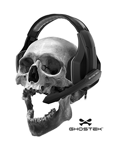 Ghostek Hero Series Gaming Headphones Over-Ear | 3.5MM Jack | PC Video Gaming |120° Microphone Rotation + Mute Switch | Integrated Volume Control | Ultra Resistant Braided Cable (Black)