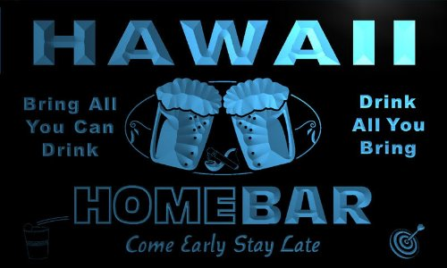 ADV PRO p2011-b Hawaii Home Bar Beer Family Last Name Neon Light Sign by AdvPro Name