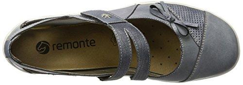 Bailarinas Jeans para Mujer 14 Remonte R3428 Azul denim denim 5wxqq7X