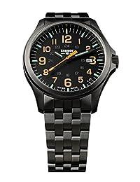 traser P67 Officer Pro Gunmetal Orange Numerals Gunmetal PVD Stainless Steel Men's Watch 107870