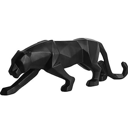 Qianyue Figurine Panthere Noire En Resine Style Abstrait Et Forme