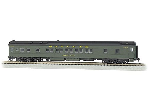 Bachmann Industries Santa Fe Moose Lake Ho Scale 80' Pullman Car with Led Lighting