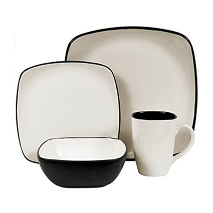 Amazon.com | Corelle Hearthstone Stoneware Square 16-Piece ...