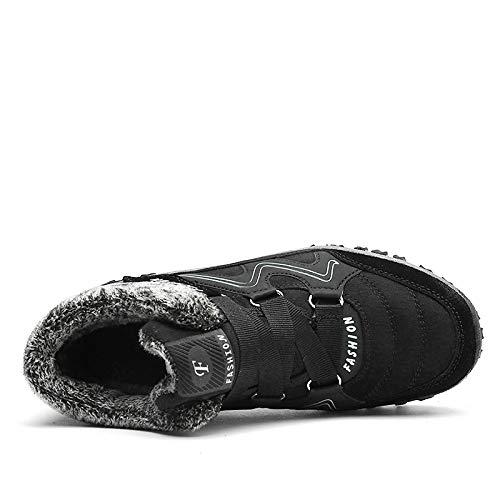 Gomma Invernali Da Caldi In 1mblack Fhcgmx Neve Con Inverno Uomo Unisex Moda Scarpe Stivali Casual Zjw6137 nc0wq5YqT7