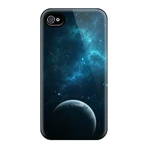 New Premium Flip Cases Covers Dark Blue Space Skin Cases For Iphone 6plus
