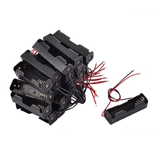 BestTong Single AA Plastic Battery Holder, 1 X 1.5V AA Battery Holder, AA Battery Holder with Leads Wires(20 Pack)