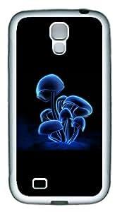 Samsung S4 Case Blue 3D Mushrooms TPU Custom Samsung S4 Case Cover White