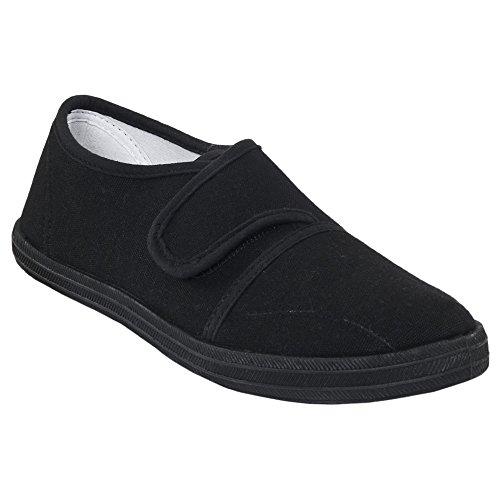 Trespass Zapatillas de Tela Para el Colegio Modelo Gym Hero Unisex Para Niños - Verano Negro