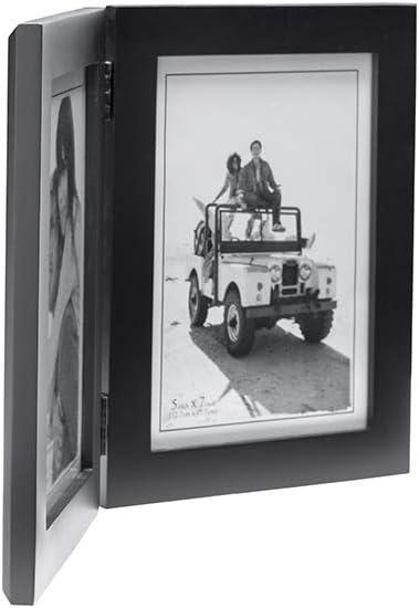 Malden International Designs Linear Wood Picture Frame 5-by-7-Inch Walnut
