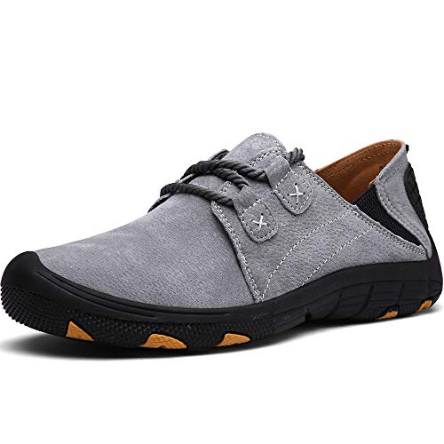 CASMAG Men's Outdoor Sneakers Outdoor Sport Comfortable Athletic Hiking Shoe A-Grey 9.5 M US