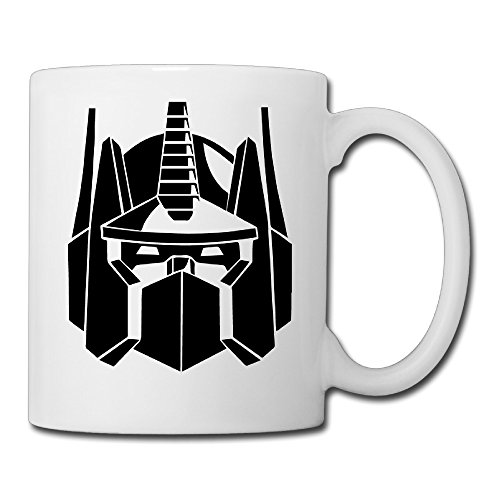 Christina Optimus Prime Transformers Logo Ceramic Coffee Mug Tea Cup White