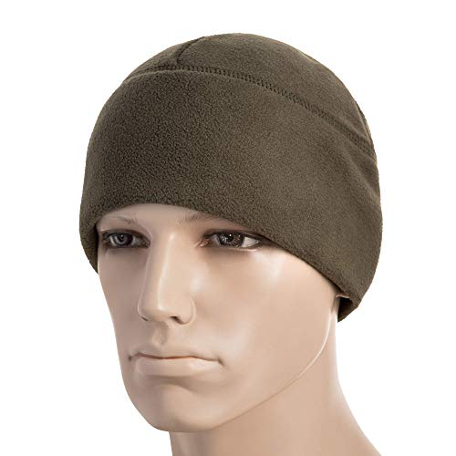 (M-Tac Winter Hat Windproof Fleece 380 Mens Watch Cap Military Skull Cap Beanie (Olive, Medium))