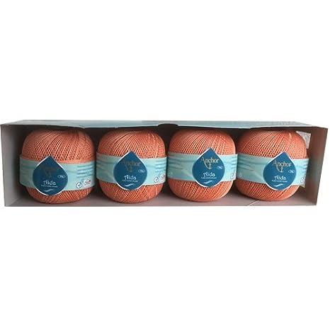 Coats Aida Crochet Cotton Thread 50g Size 10 Colour Salmon Pink