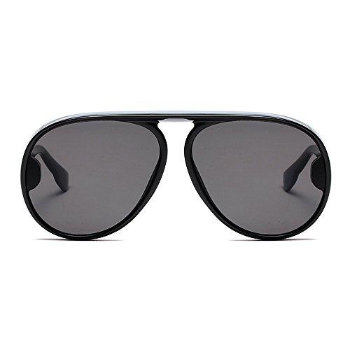 El Negra Por Gafas Sobredimensionado Superior Plana Parte Hombre Sol TIANLIANG04 De 7tq8zaW