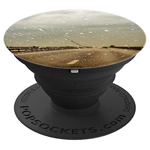 Pop Socket Scenic - Vintage Rainy Autumn - Road Landscape - PopSockets Grip and Stand for Phones and Tablets