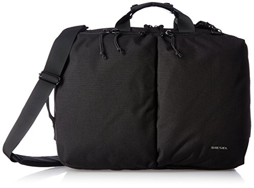 Diesel Men's Urbhanity Briefcase, Black, One Size (Diesel Collection)