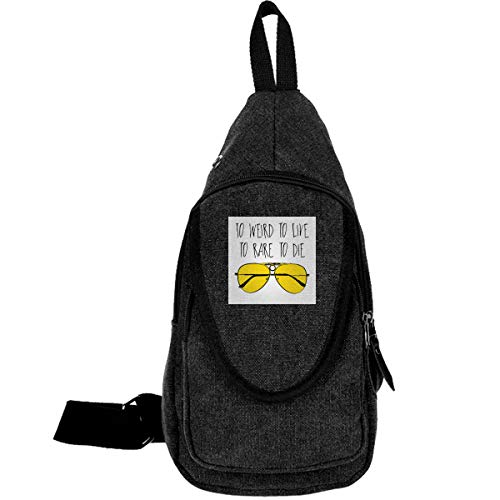 To Weird To Live To Rare To Die Fear And Loathing In Las Vegas Traveling Chest Bags For Men&Women Multipurpose Casual Daypack Hiking Shoulder Bag