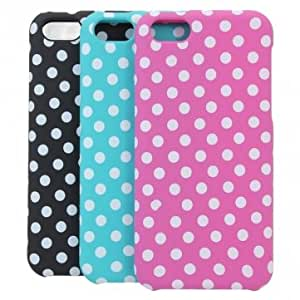 Polka Dot Wave Point Protective Case Cover For iPhone 5C --- Color:Blue
