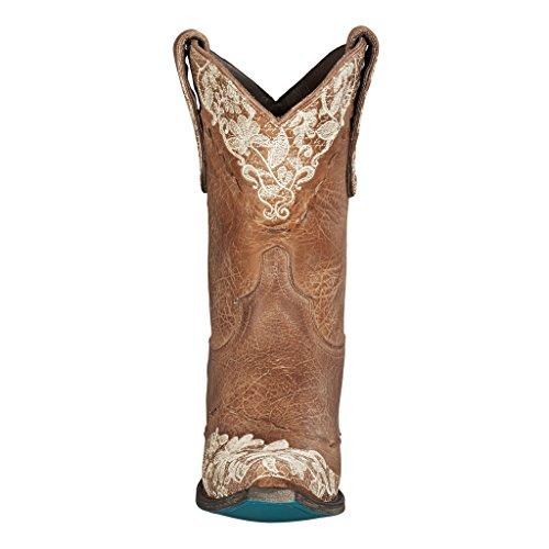 Lane Boots Jeni Lace Shortie Dames Cowboylaars Bruin 8.0 D (m) Ons