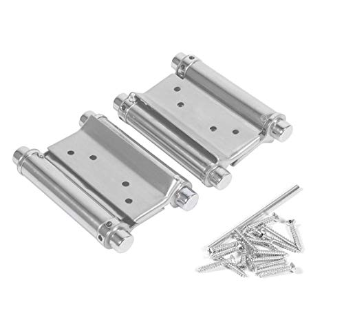 Karcy 2pcs 3 inch Stainless Steel Heavy Duty Double Action Spring Loaded Door Hinge with - Ball 2in Hinge