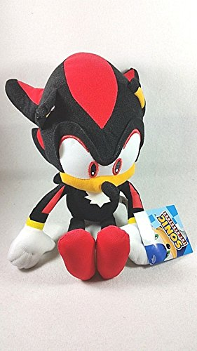 (Official Sonic the Hedgehog Black Shadow Plush Soft Toys - 10 by)
