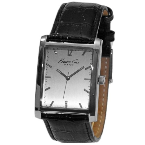Croco Embossed Strap Watch (Kenneth Cole New York Rectangular with Croco-Embossed Strap Men's watch #KCW1000)