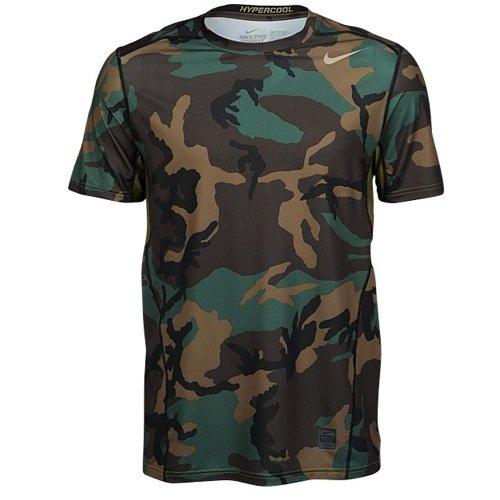 Nike Pro Hypercool Woodland Fitted Men's Shirt, Iguana/Black/Bamboo, X-Large
