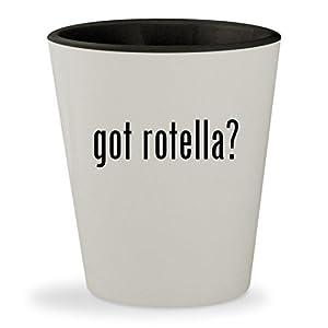 got rotella? - White Outer & Black Inner Ceramic 1.5oz Shot Glass
