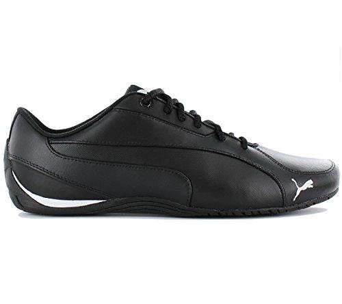 Puma Drift Cat 5 Core 362416-01 Herren Schuhe Turnschuhe Leder Männer Schuhe Sneaker Schwarz (puma black 01)