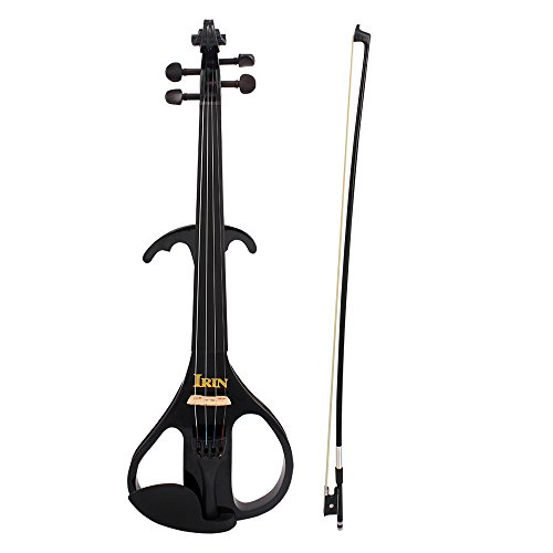 ammoon 4/4 Full Size Electric Violin Fiddle Maple Wood Stringed Instrument Ebony Fretboard Chin Rest with 1/4'' Connecting Cable Earphone Case for Student Music Lover Beginner by ammoon