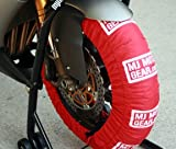 Motorcycle Tire Warmer Set, Single Temp, 180 to 200 Rr / 120 Fr, Red