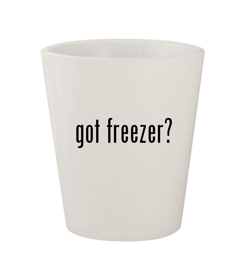 got freezer? - Ceramic White 1.5oz Shot Glass