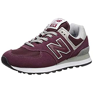 New Balance Women's 574v2 Sneaker, Burgundy with White, 6.5 D US