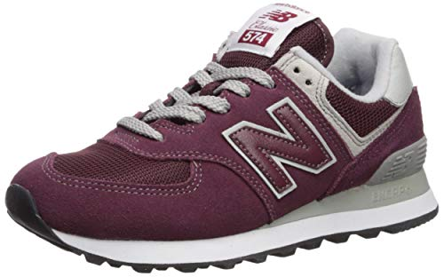 - New Balance Women's Iconic 574 Core Sneaker, Burgundy with White, 6.5 B US