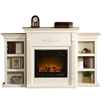 Marvelous Amazon Com White Electric Fireplace With Storage Bookcases Download Free Architecture Designs Itiscsunscenecom