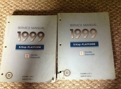 1999 Cadillac DeVille Eldorado Service Shop Repair Workshop Manual Set OEM
