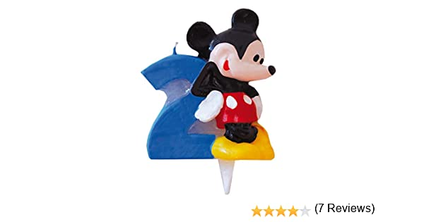 Mickey Mouse - Vela Nº 2 (Verbetena 014000392): Amazon.es ...