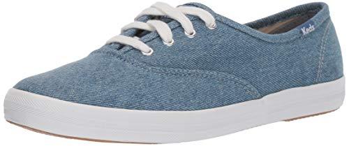 Keds Women's Champion Seasonal Solids Sneaker, Blue Denim, - Denim Sneakers