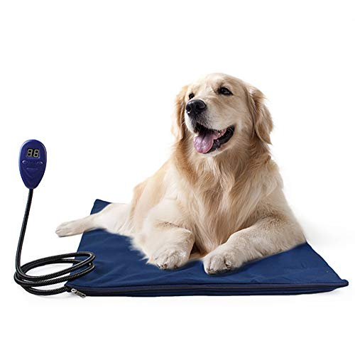 CWYPY Pet Bed Electric Heating Pad Dog Cat Warming Mat Blanket Heated Cushion Chew Resistant Cord and Removable Cover,US ()