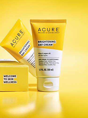 ACURE Brightening Day Cream   100% Vegan   For A Brighter Appearance   Cica & Argan Oil – Moisturizes, Fights Dullness…