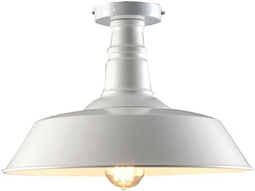 Lámpara de Techo de Hierro Retro Lámpara de Techo Industrial Loft Accesorio de Iluminación de Techo