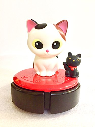 rc store Japanese Candy Ninja SHINE Lun Lun Cleanya (Cat Robot Desktop Cleaner) 2017 with Iwako Lucky Black Cat