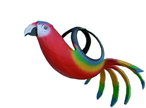 Amazon com: Red Parrot Scarlet Macaw Recycled Tire Planter: Garden