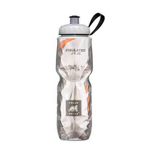 Polar Bottle Insulated Water Bottle (24-Ounce) (Carbon Orange) - Ounce 24 Bottle Sport